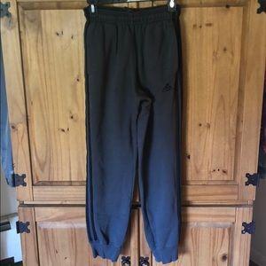 adidas joggers sweatpants gray black men's small